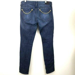 Guess Denim Jeans Gold Chain Embellished